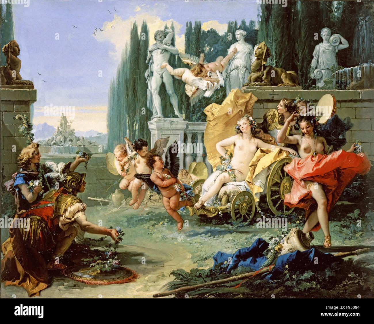 Giovanni Battista Tiepolo - The Empire of Flora - Stock Image