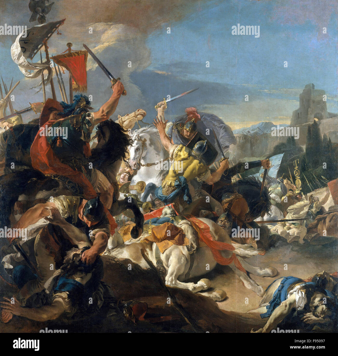 Giovanni Battista Tiepolo - The Battle of Vercellae - Stock Image