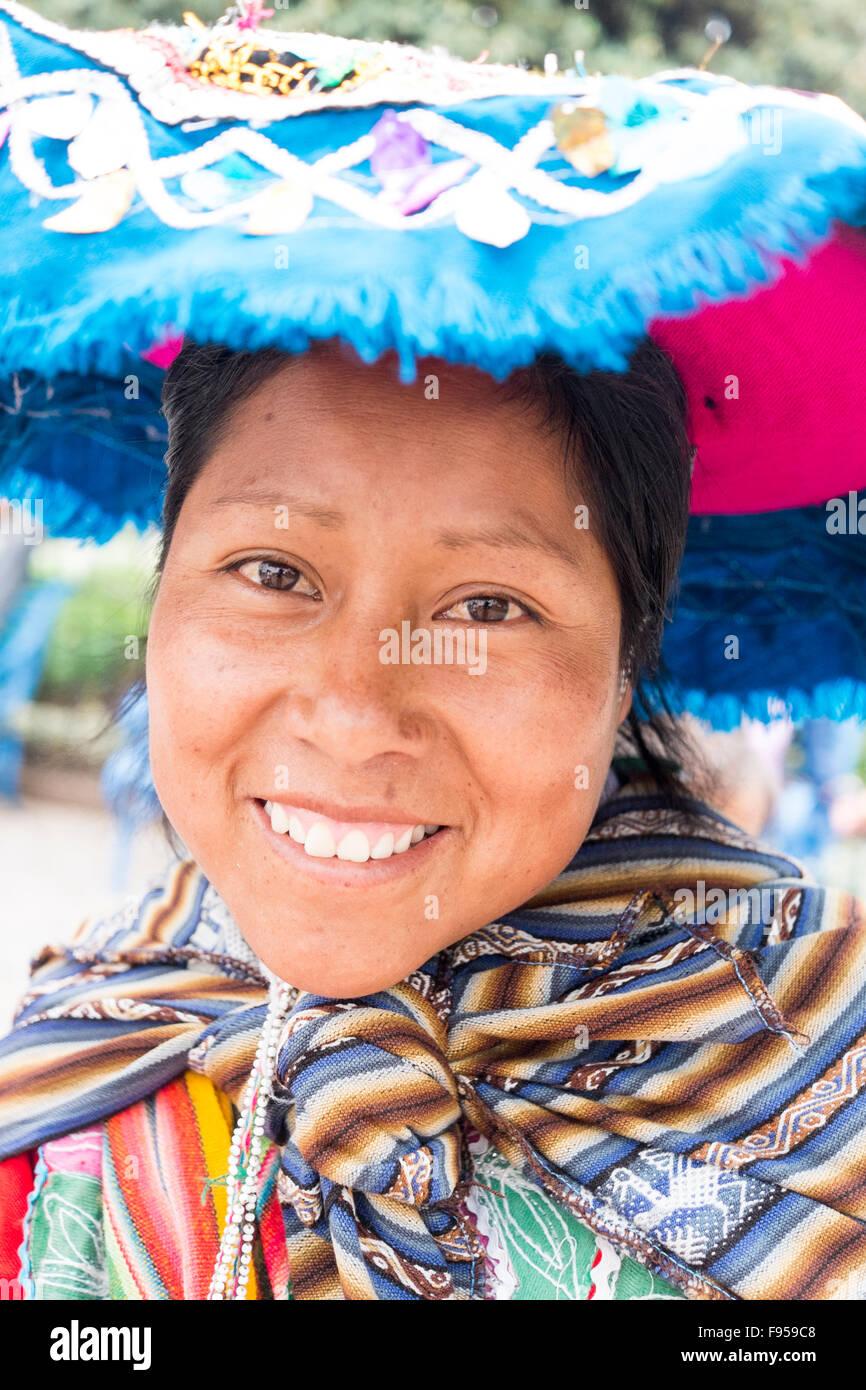A Quechua woman in Cusco , Peru - Stock Image