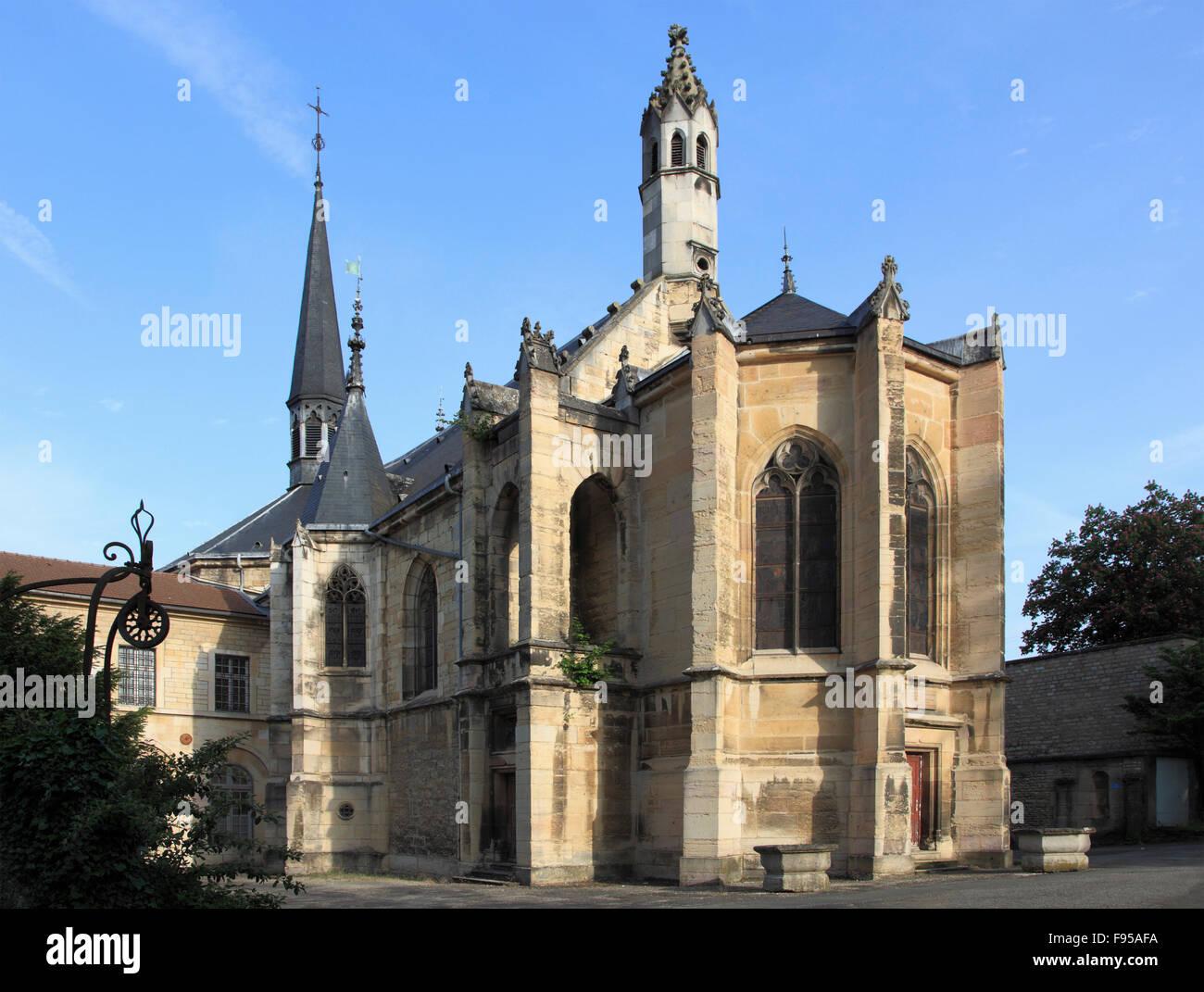France, Bourgogne, Dijon, Chartreuse de Champmol, - Stock Image