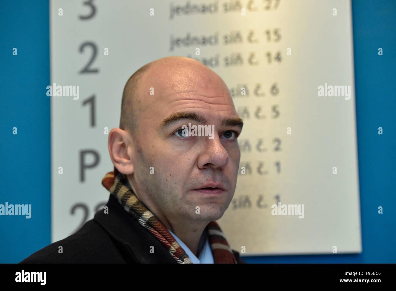 Brno, Czech Republic. 14th Dec, 2015. The Municipal Court in Brno extended the pre-trial custody of U.S. citizen - Stock Image