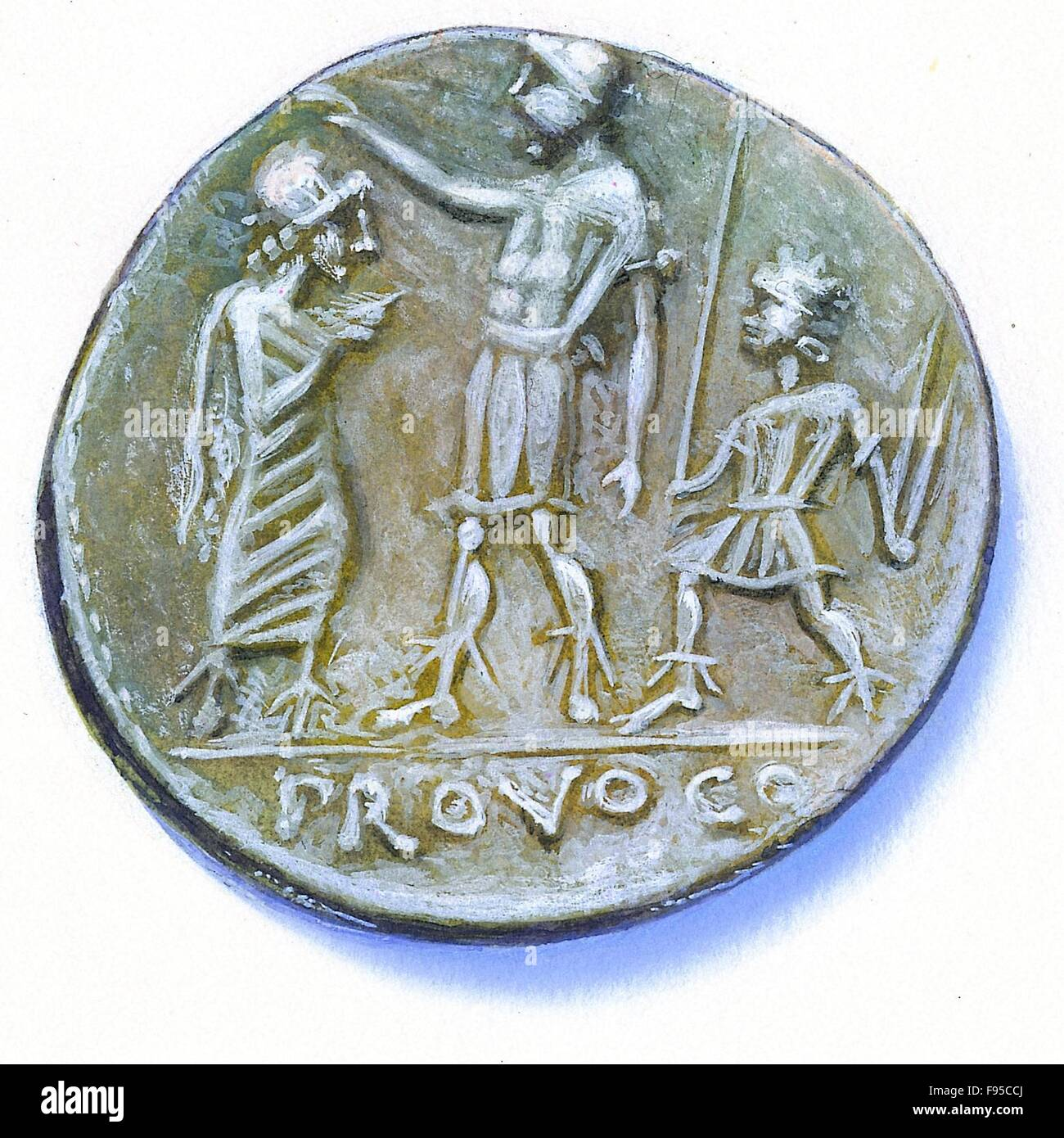 Coin of the 2nd century BC. - Stock Image