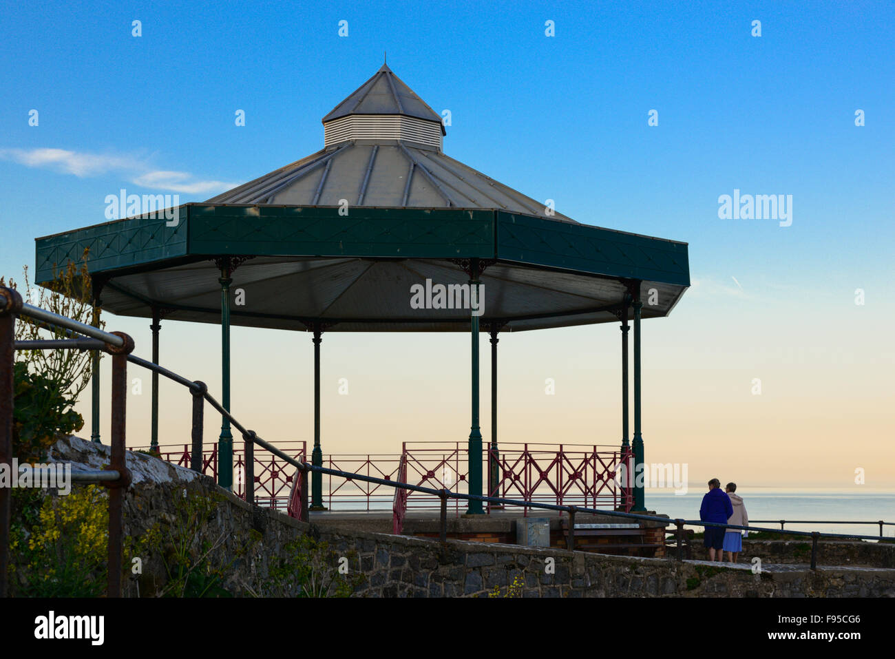 Bandstand. Tenby, Pembrokeshire, west Wales, UK - Stock Image