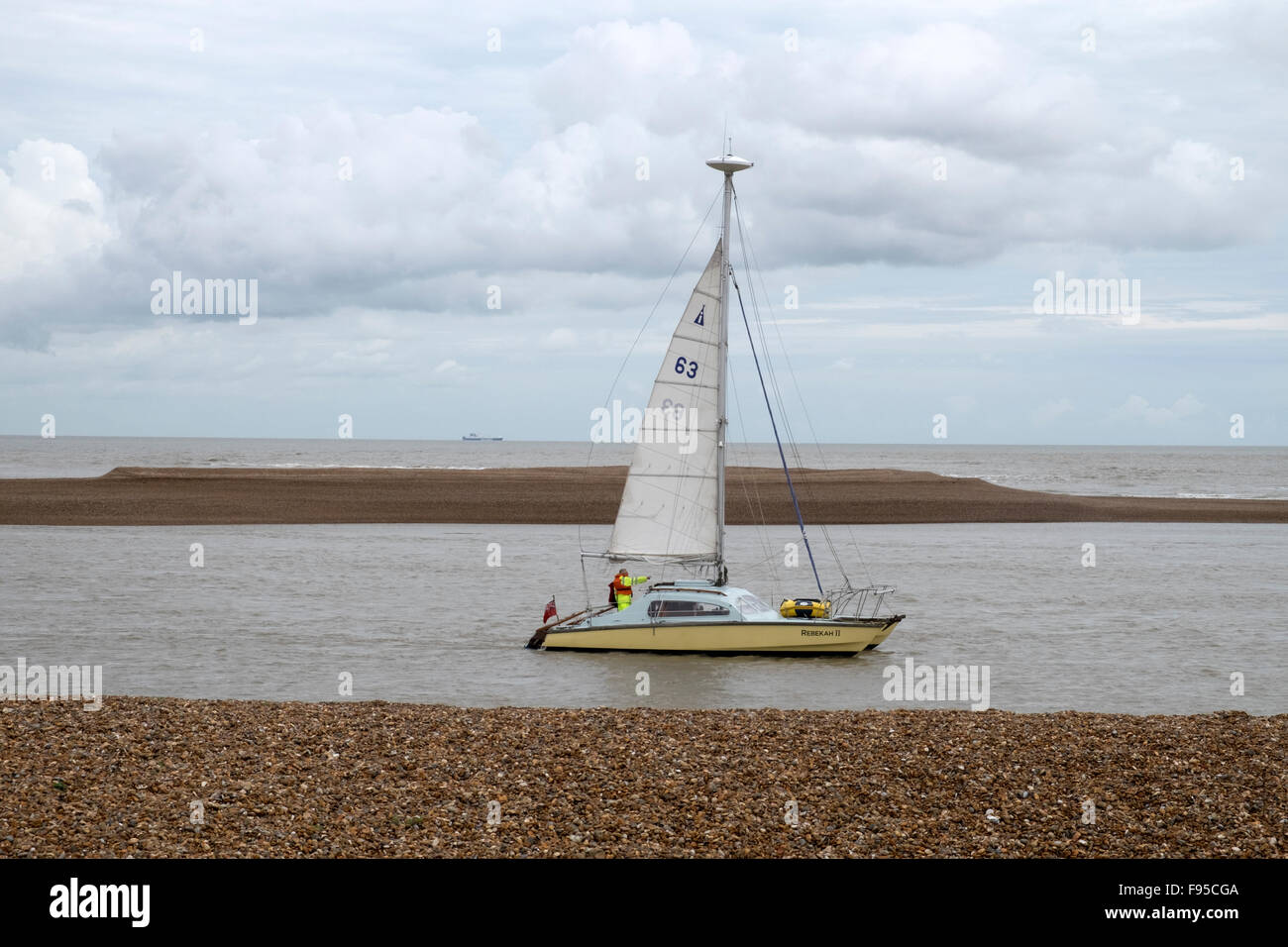 Rebekah II yacht sailing up the river Alde into the North