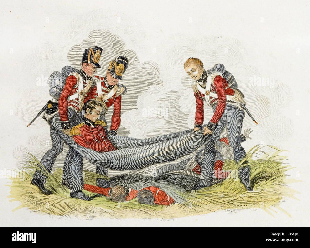 Battle of Waterloo. - Stock Image