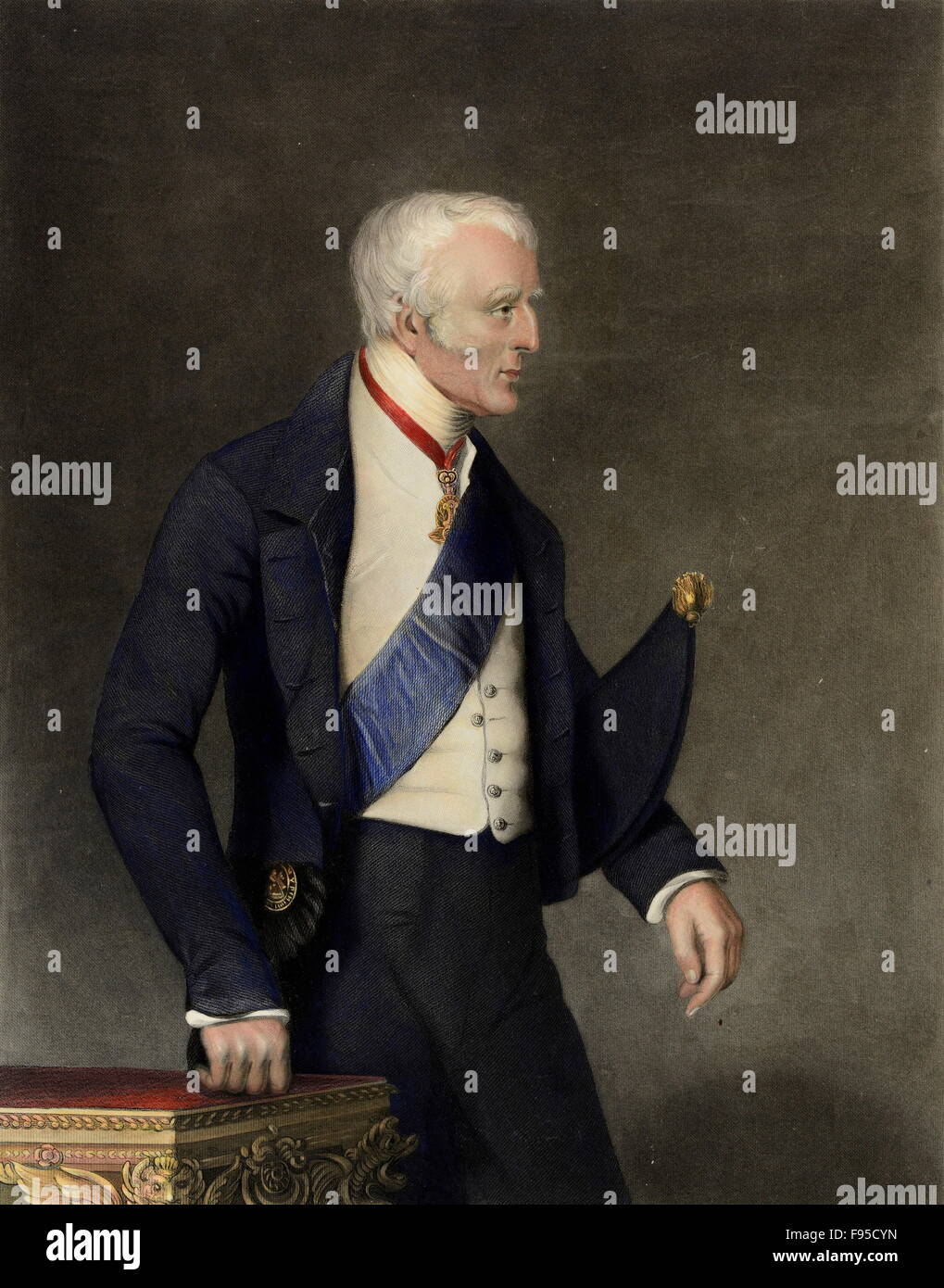 The Duke of Wellington. - Stock Image