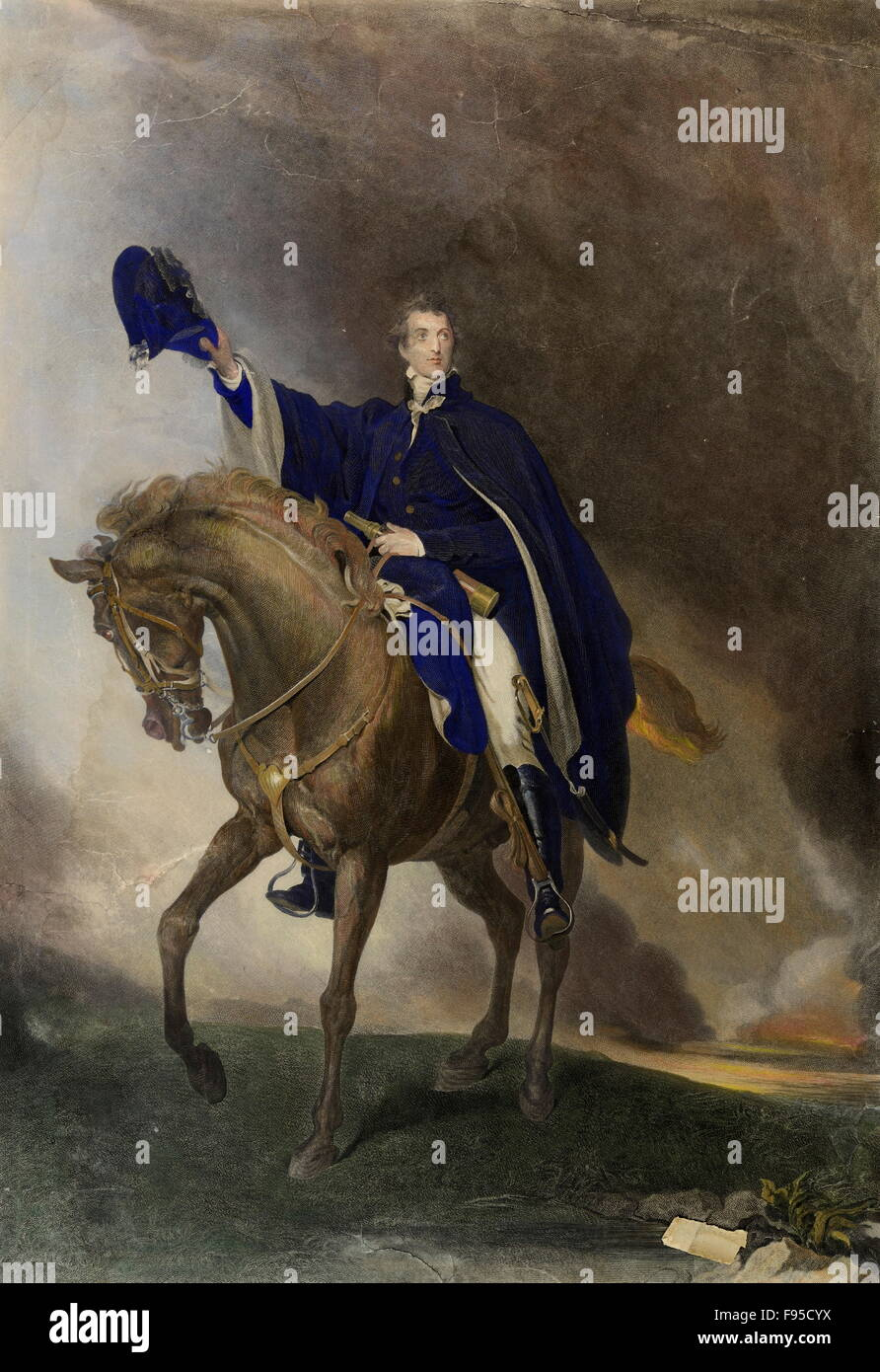 The Duke of Wellington. - Stock Image