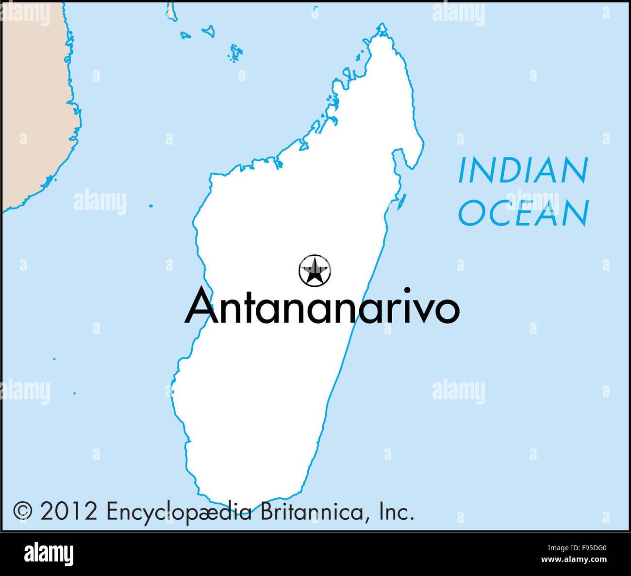 Antananarivo Antananarivo Madagascar Maps Stock Photos