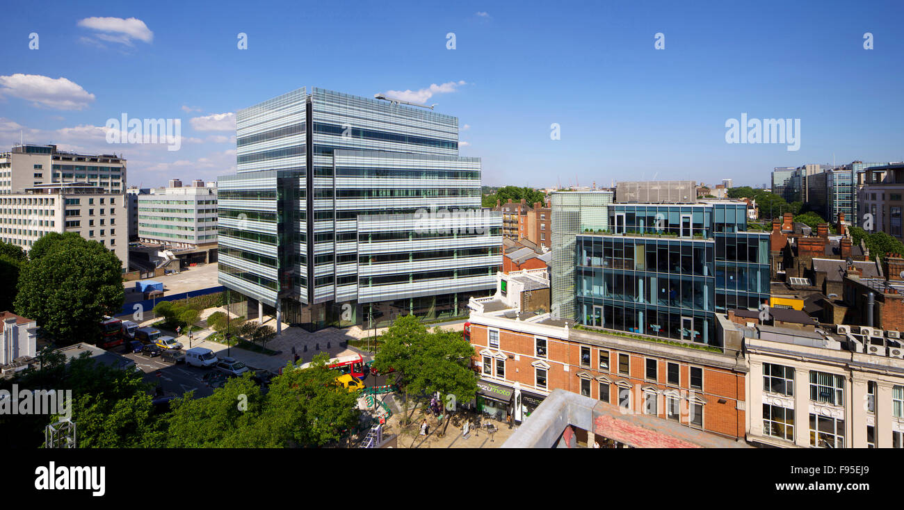 10 Hammersmith Grove W6 London. New office development by Wates Construction for Development Securities in Hammersmith, - Stock Image