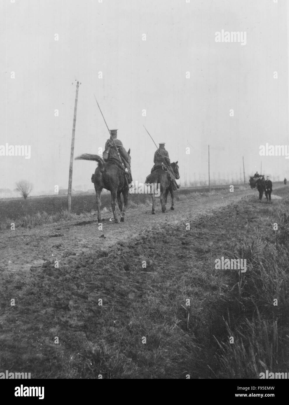 British Front, Belgium, 1914. - Stock Image