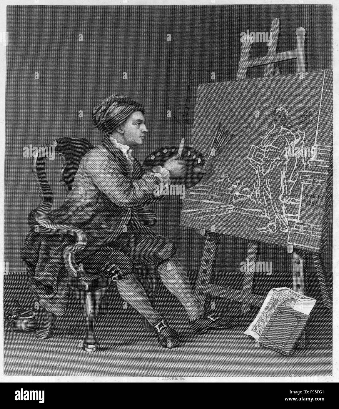 William Hogarth. Stock Photo