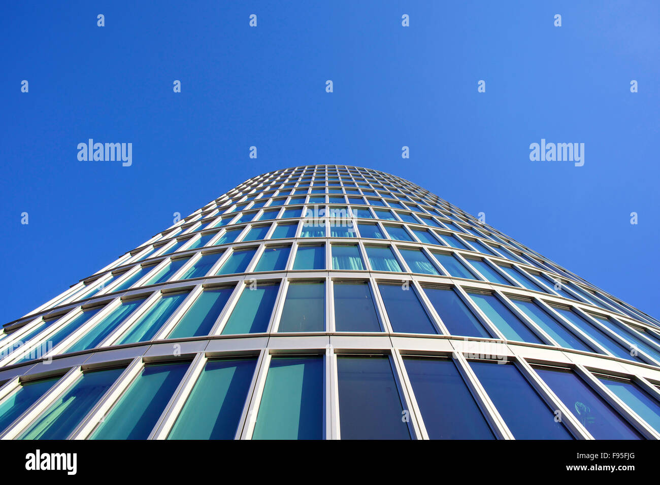 ND2 The Eye, Bristol. View looking up the exterior of The Eye. Contemporary architecture. - Stock Image