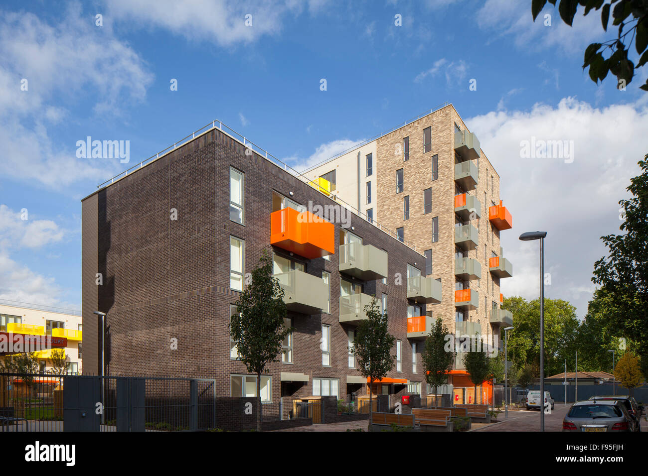 Ocean Estate, Stepney Green. The Ocean Estate project is a new build development of 462 mixed tenure housing, made Stock Photo