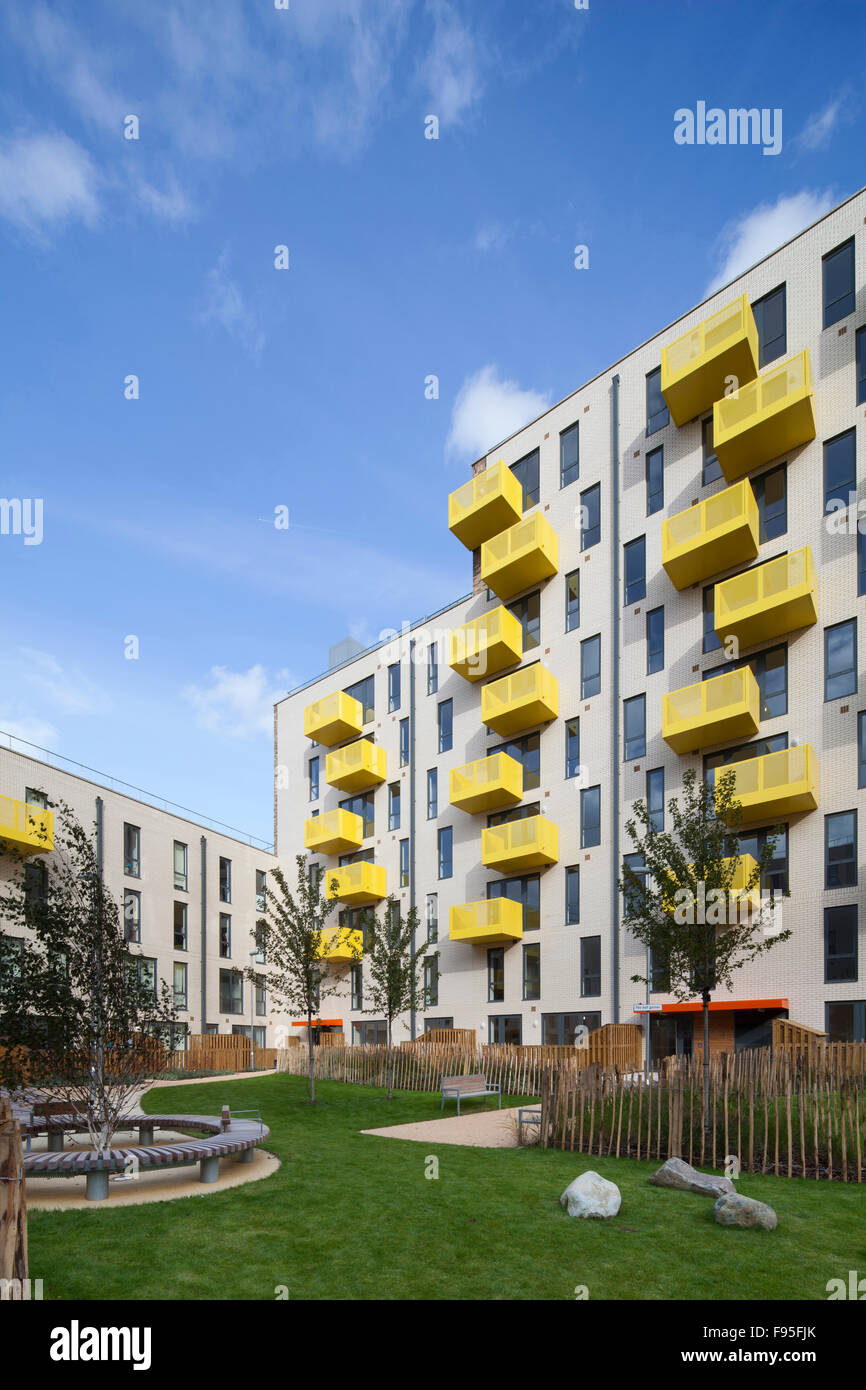Ocean Estate, Stepney Green. The Ocean Estate project is a new build development of 462 mixed tenure housing, made - Stock Image