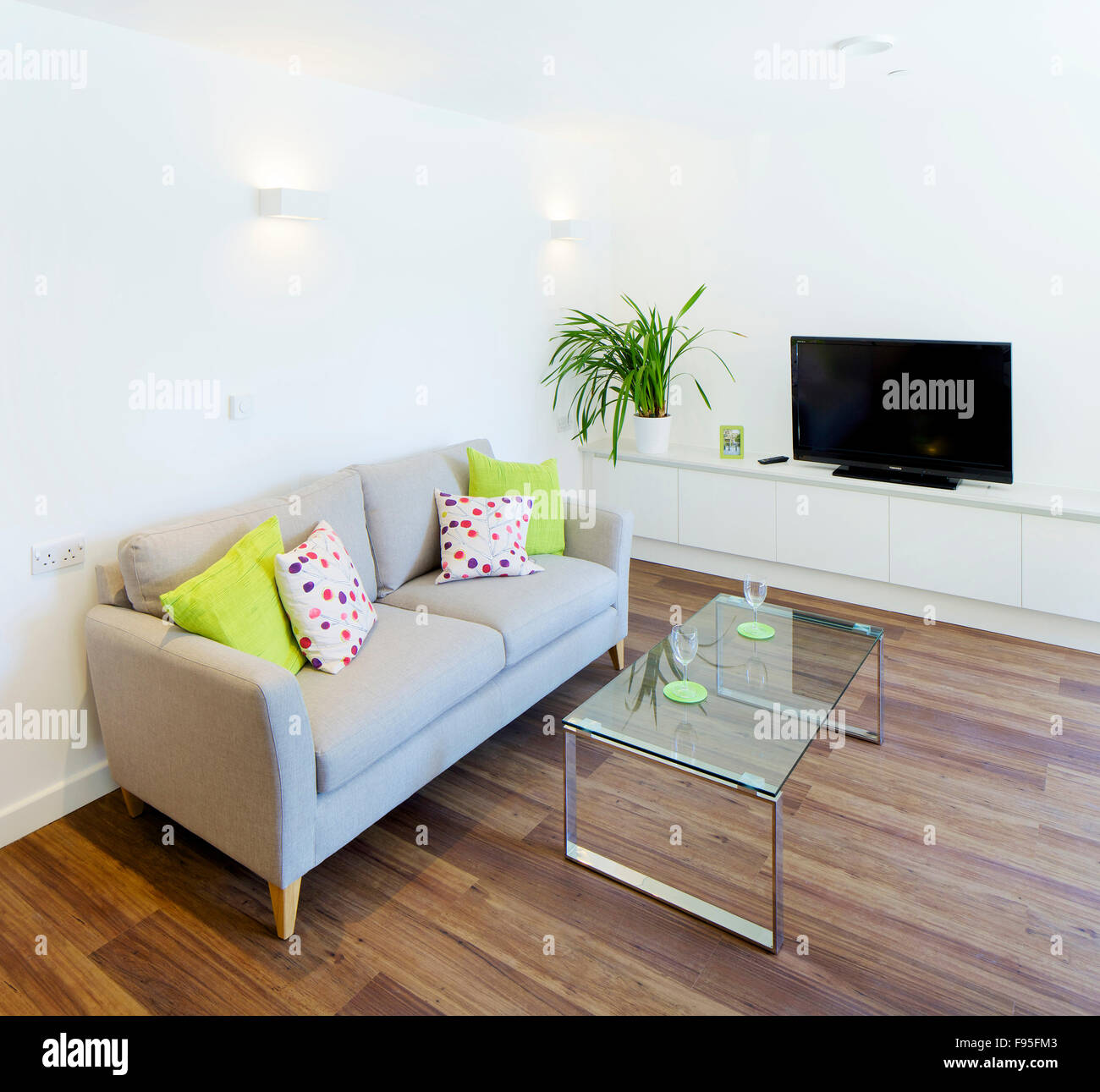 One church square london uk interior view of living room modern architecture and furniture