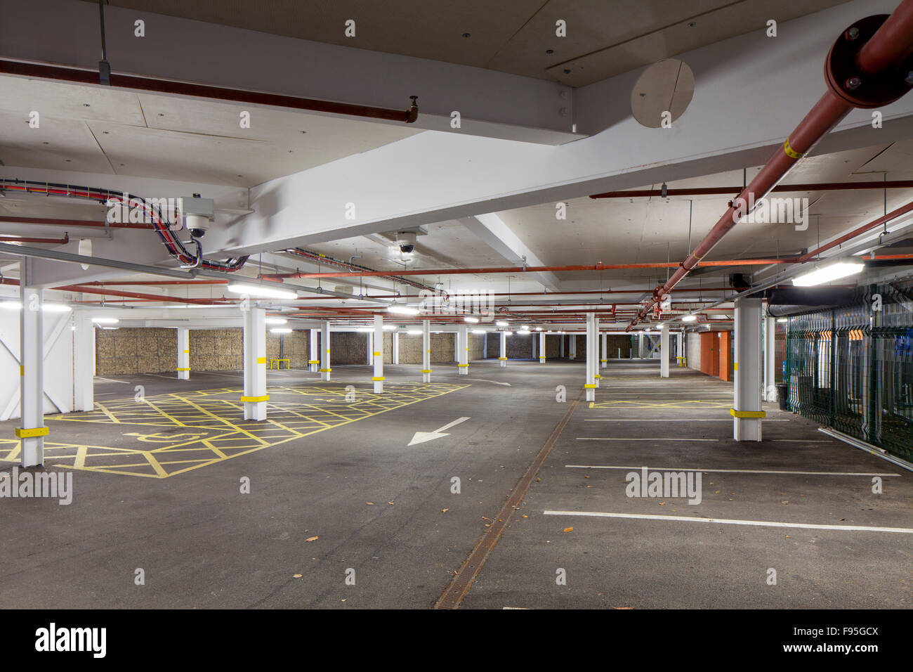 Waterhead Academy, Oldham. View of the car park of the Waterhead Academy. - Stock Image