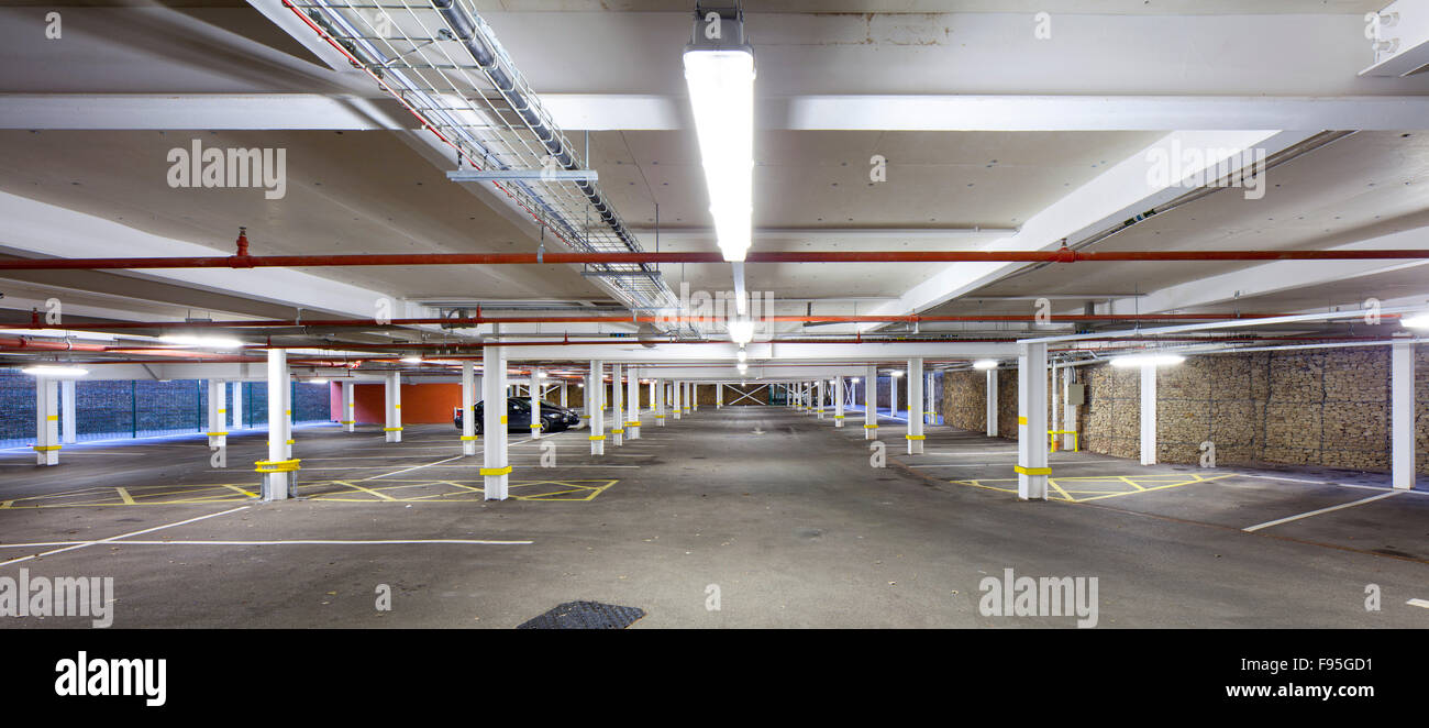 Waterhead Academy, Oldham. View of the car park at the Waterhead Academy. - Stock Image