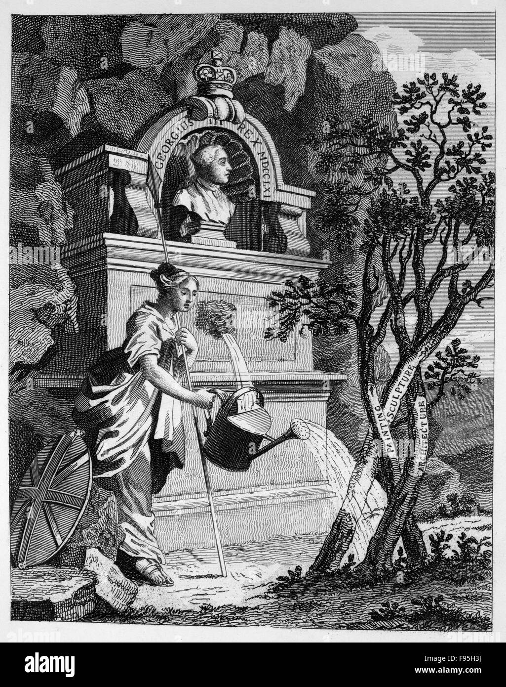 Frontispiece to the Artist Catalogue. - Stock Image