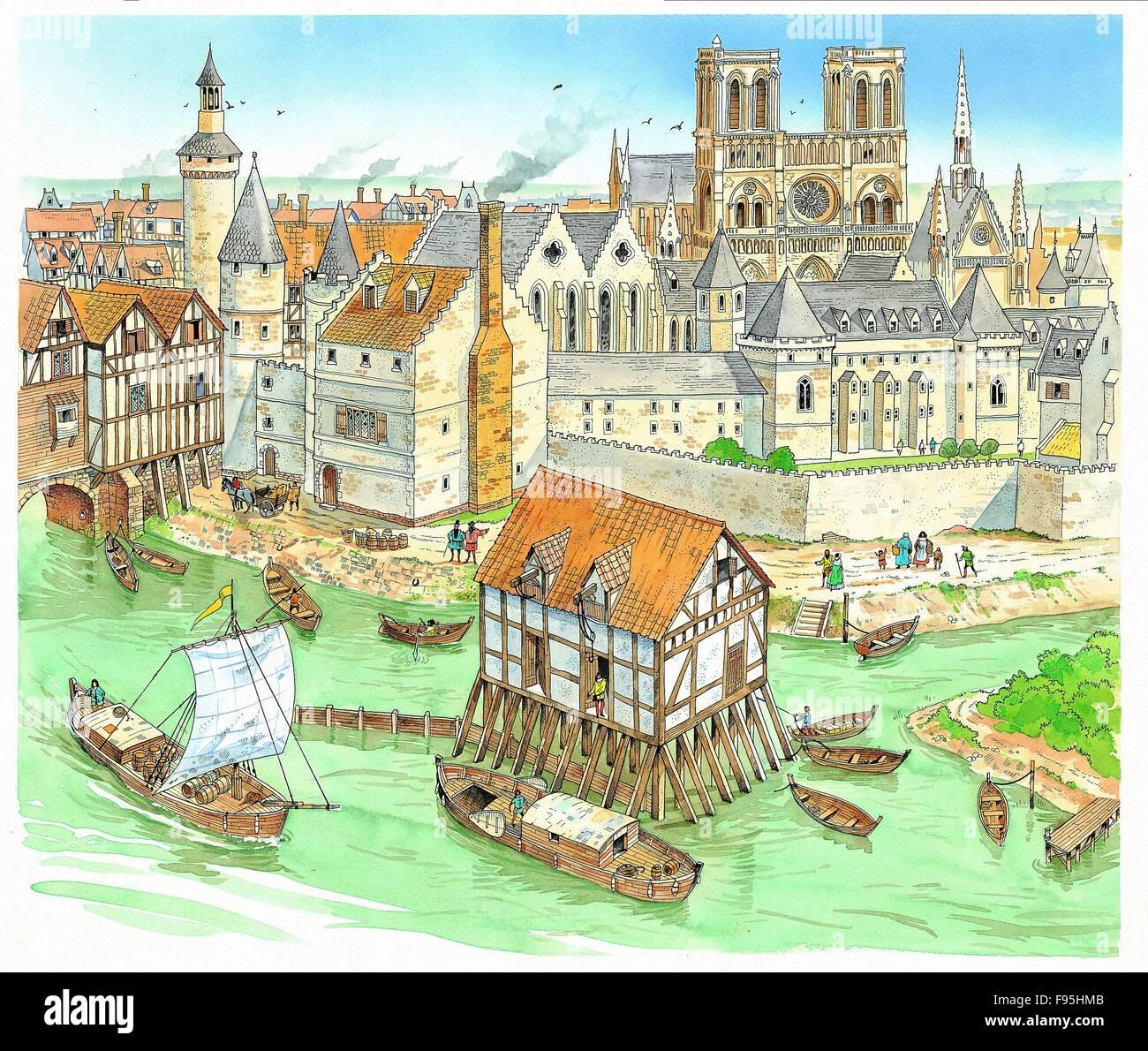 подставьте картинки средневековый город и его жители цикл