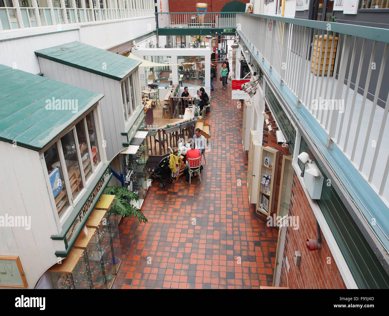 Interior of the Manchester Crafts and Design Centre on Oak Street, in the Norther Quarter of Manchester, UK. - Stock Image