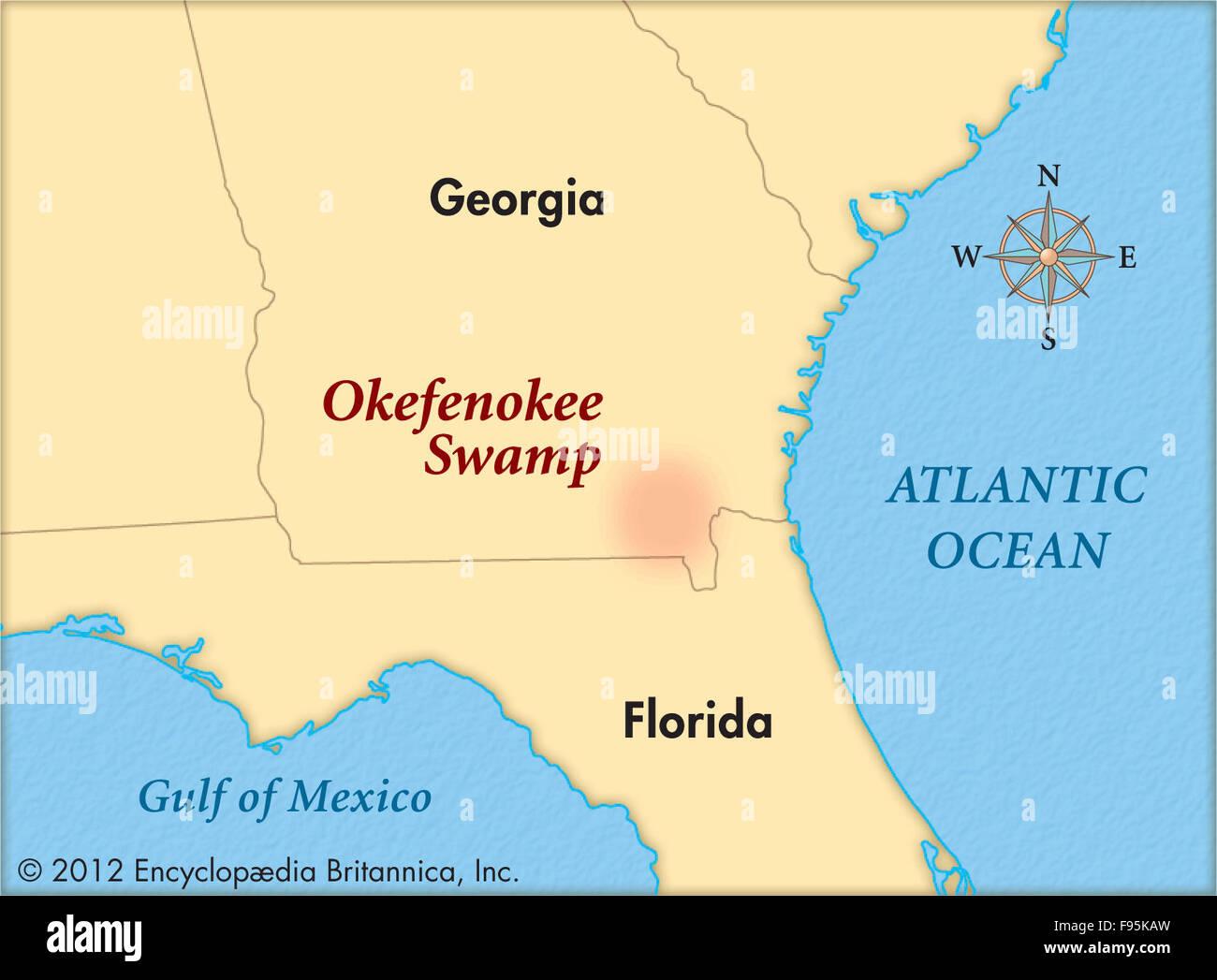 Okefenokee Fire Map.Okefenokee Swamp Stock Photo 91708705 Alamy