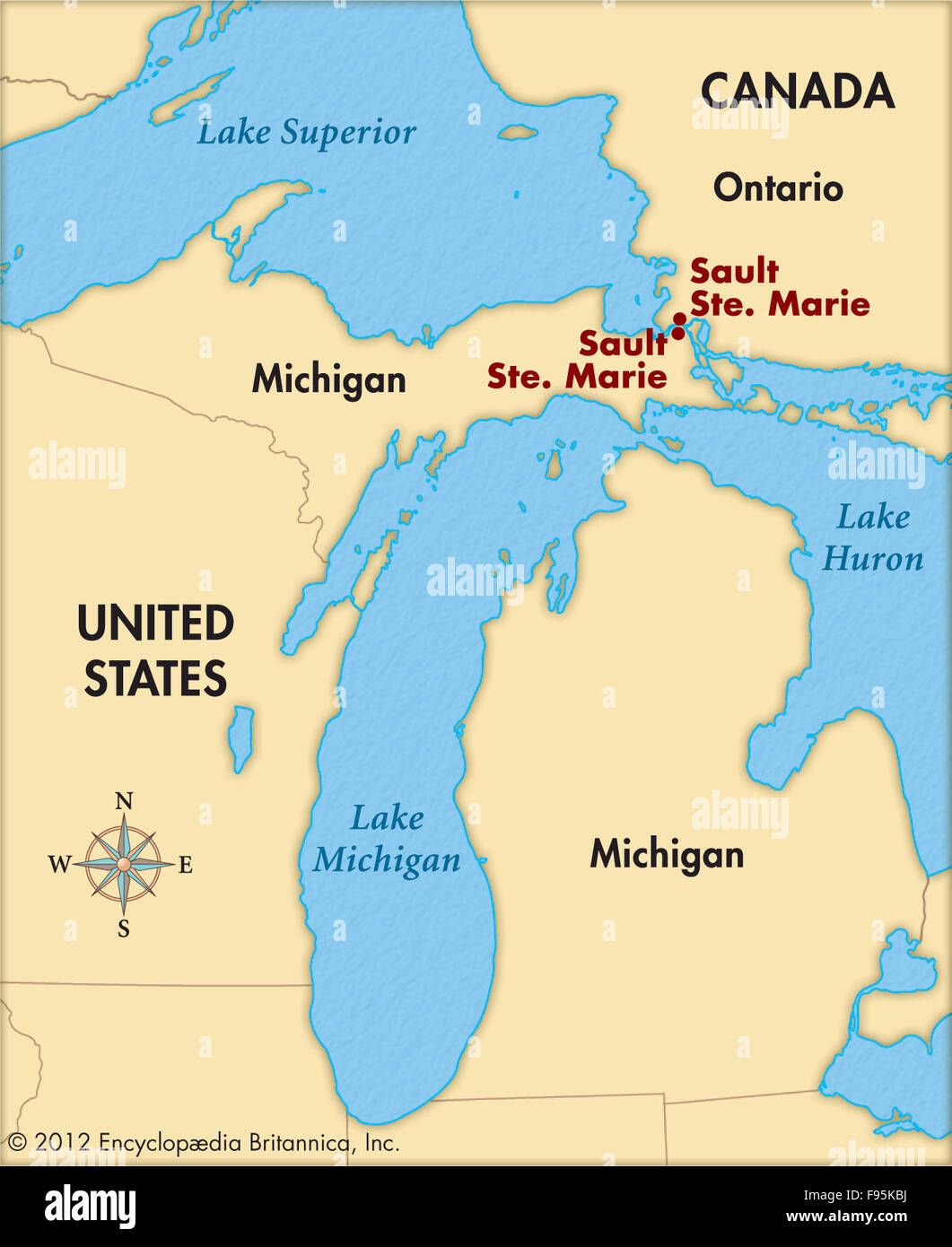 Sioux St Marie Canada Map Sault Sainte Marie Maps Cartography Geography High Resolution