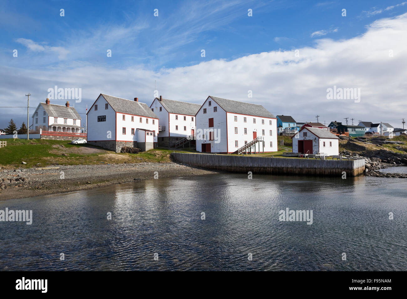 Suite of buildings associated with the cod fisheries in late 19th and early 20th centuries. Bonavista, Newfoundland, - Stock Image