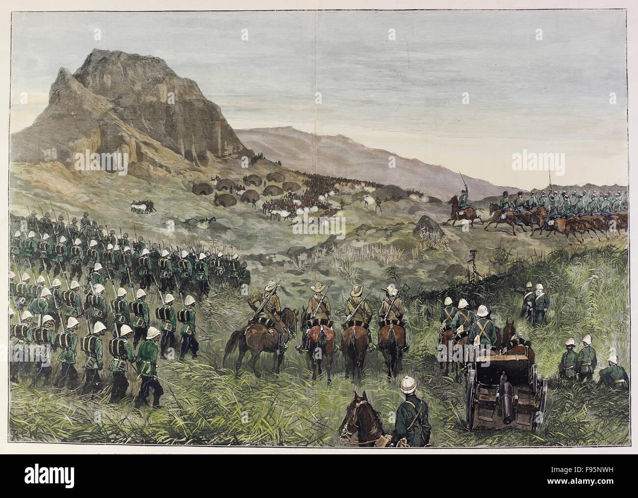The war In Basutoland. - Stock Image
