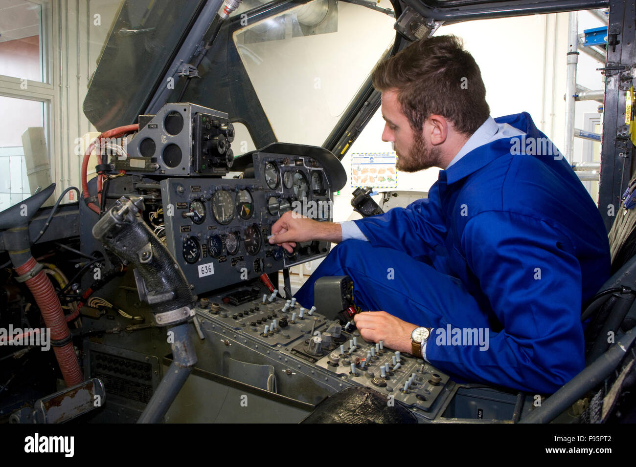 Aviation apprentice engineer - Stock Image
