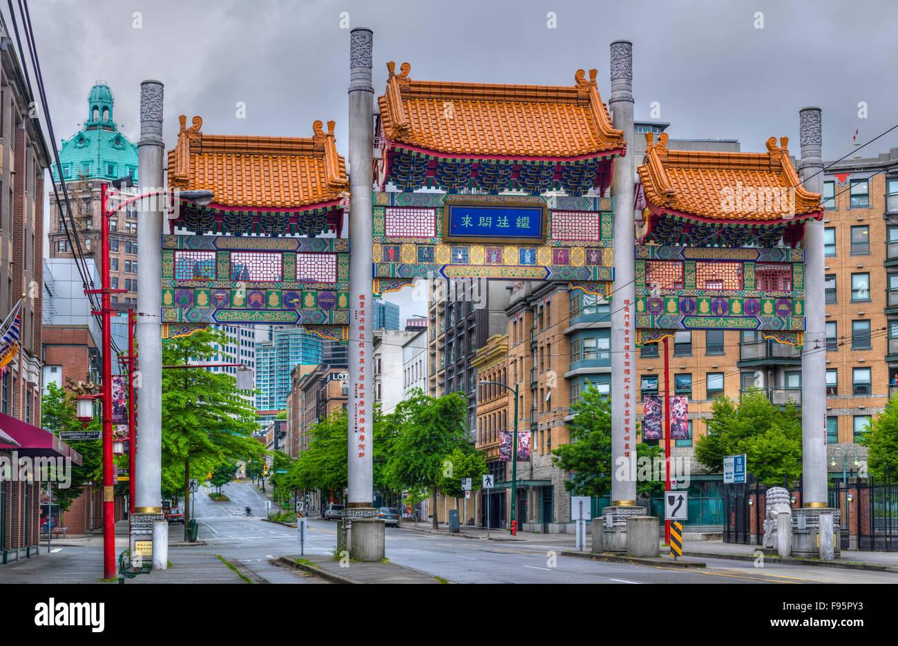 China Town, Vancouver, British Columbia, Canada Stock Photo