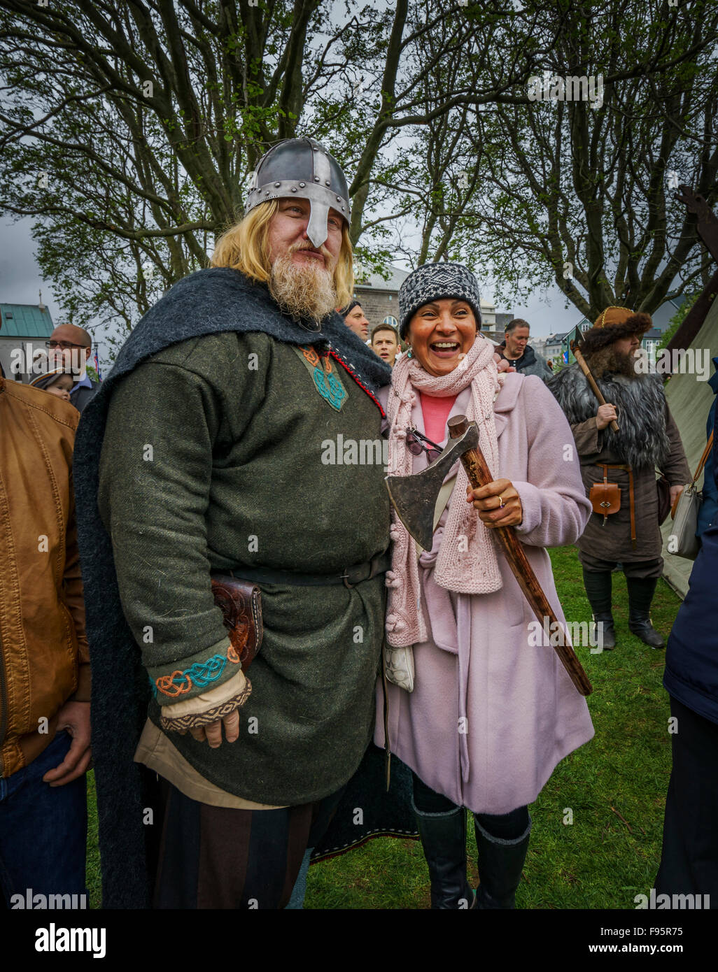 Man Dressed In Traditional Viking Clothing Icelandic Independence Stock Photo Alamy