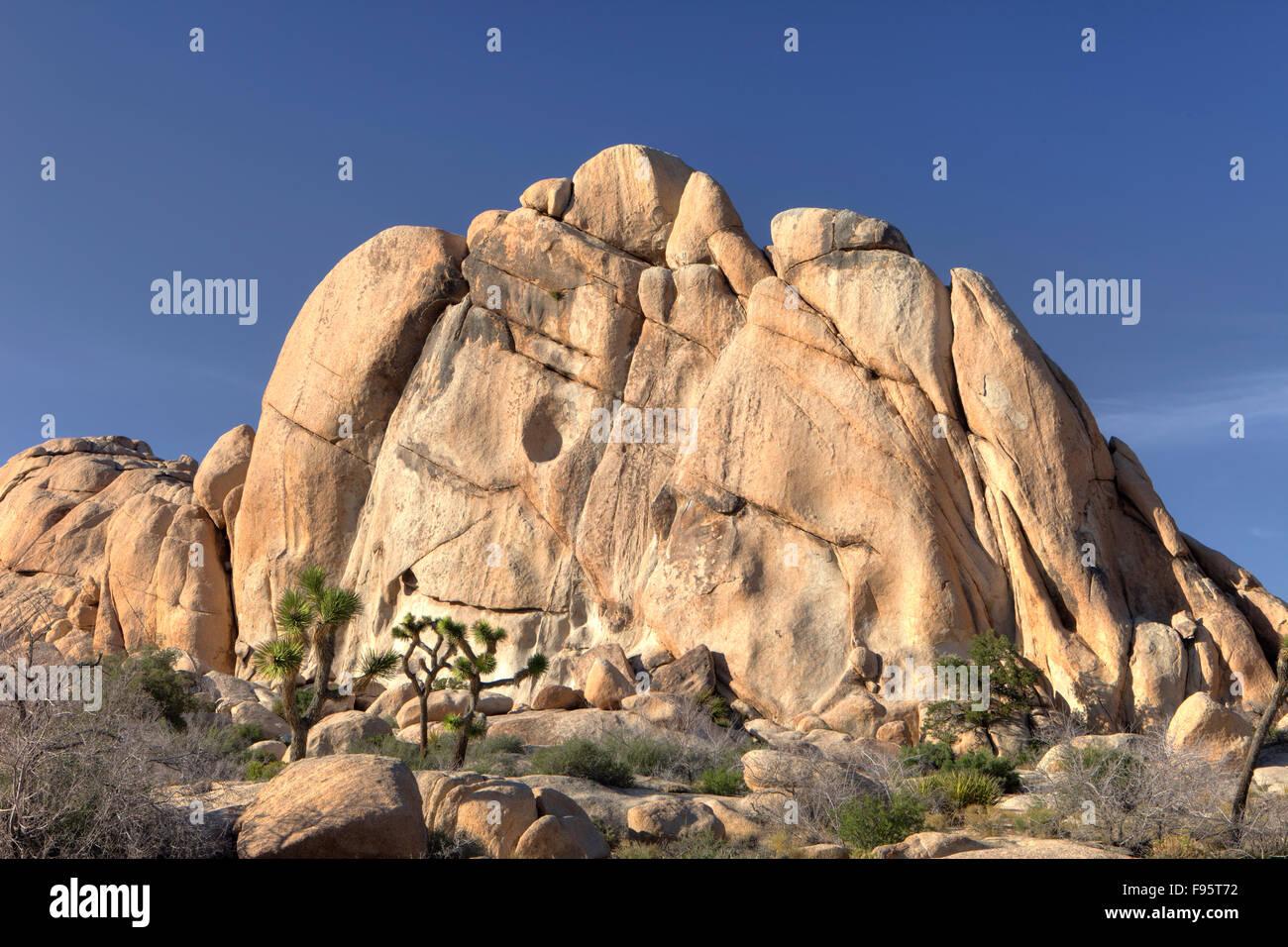 Rock Formations, Joshua Tree National Park, Calif. USA - Stock Image