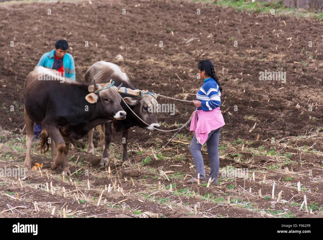 Peruvian village scenes - Stock Image