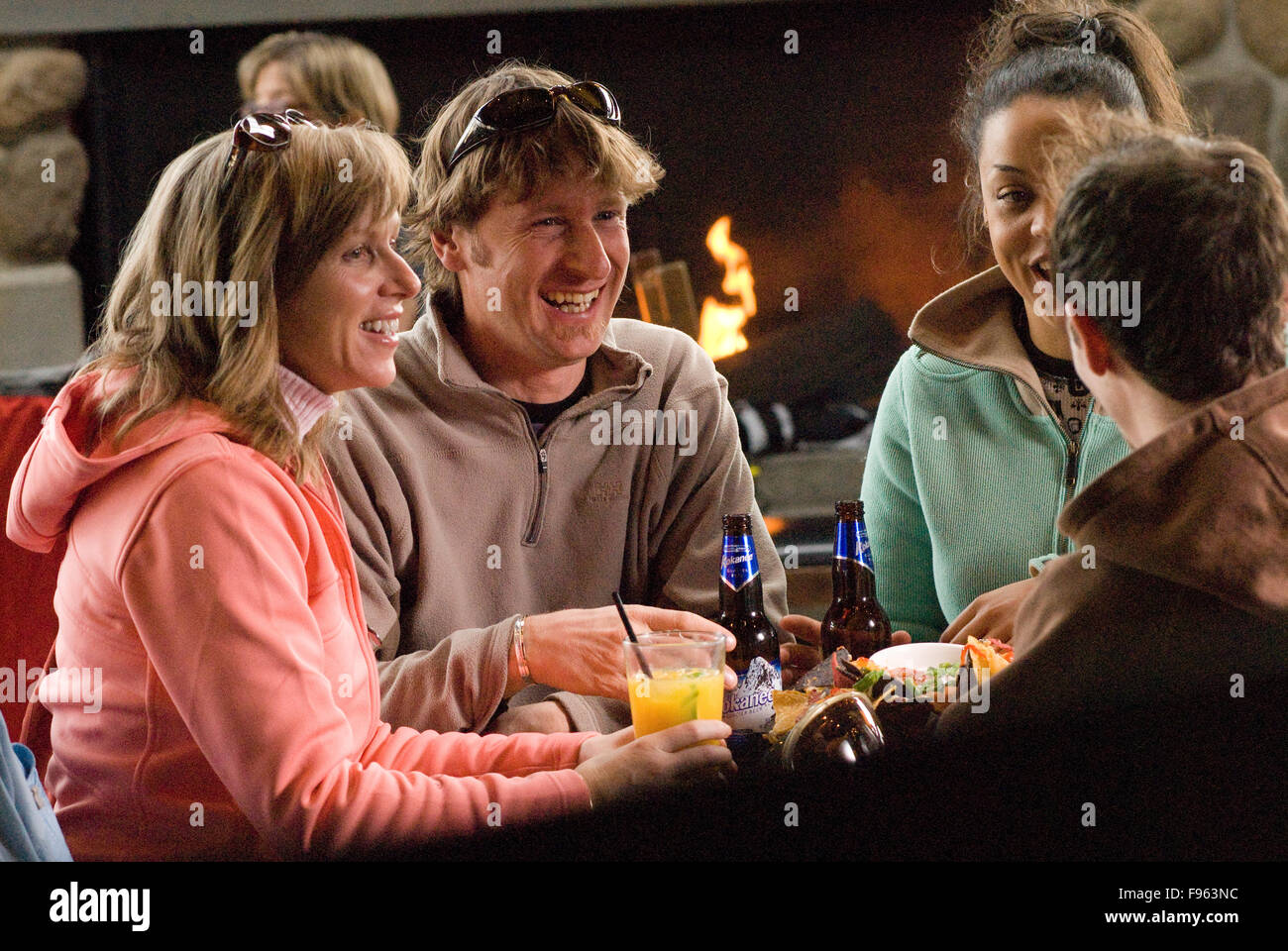 The GLC has been a hot spot for apres ski fun in Whistler, BC Canada - Stock Image