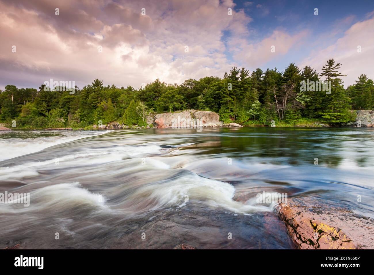 Mississagi River, Algoma District, Ontario, Canada - Stock Image