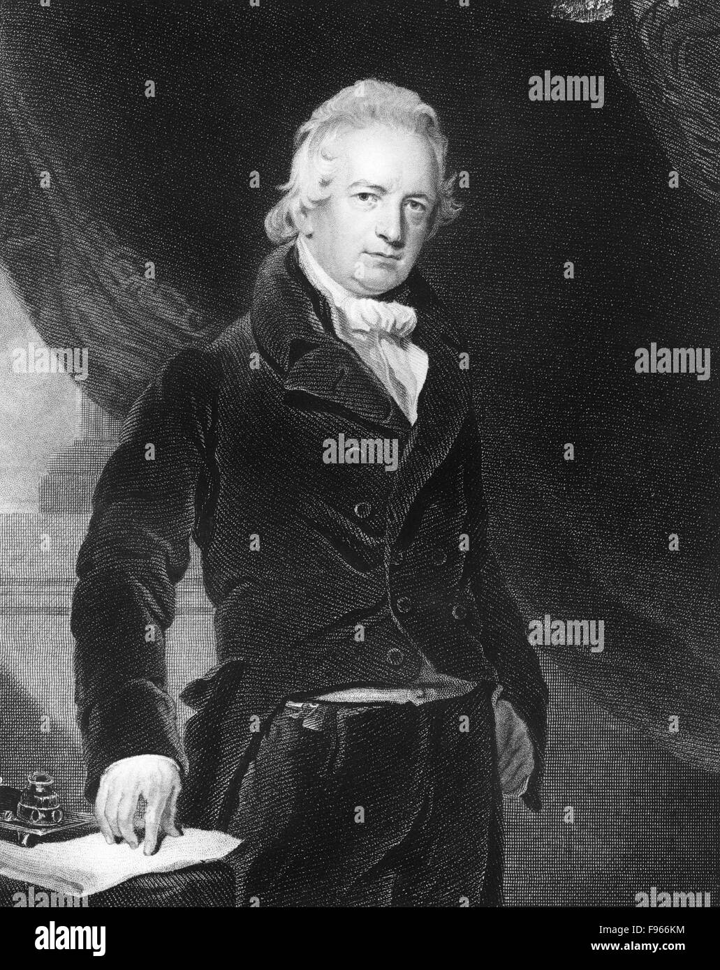 John Abernethy, English surgeon and anatomist, 19th Century, Historischer Stahlstich aus dem 19. Jahrhundert, Portrait, - Stock Image