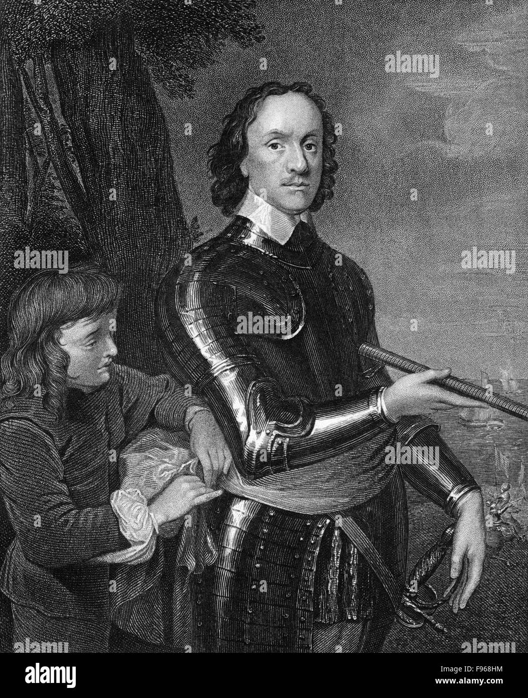 Oliver Cromwell, 1599 - 1658, the founder of the English republic, Lord Protector of England, Scotland and Ireland - Stock Image
