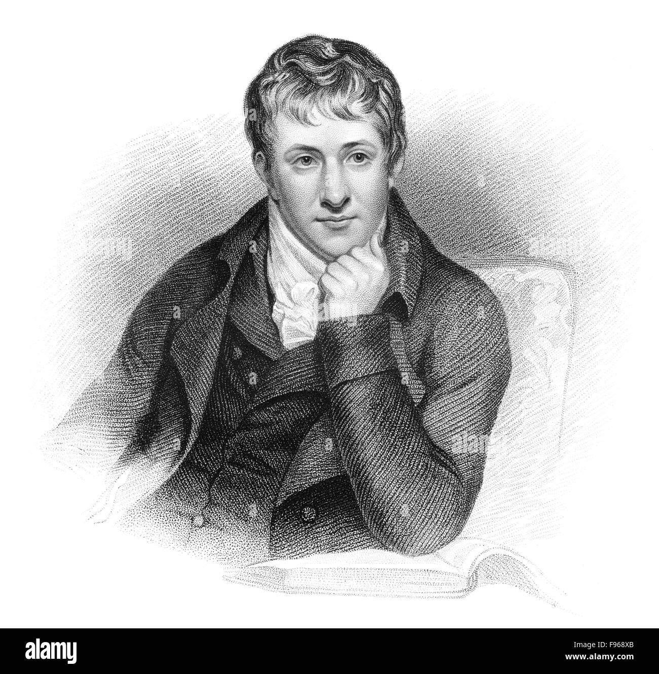 Sir Humphry Davy, 1778 - 1829, a Cornish chemist and inventor, Sir Humphry Davy, 1778 - 1829, ein englischer Chemiker - Stock Image