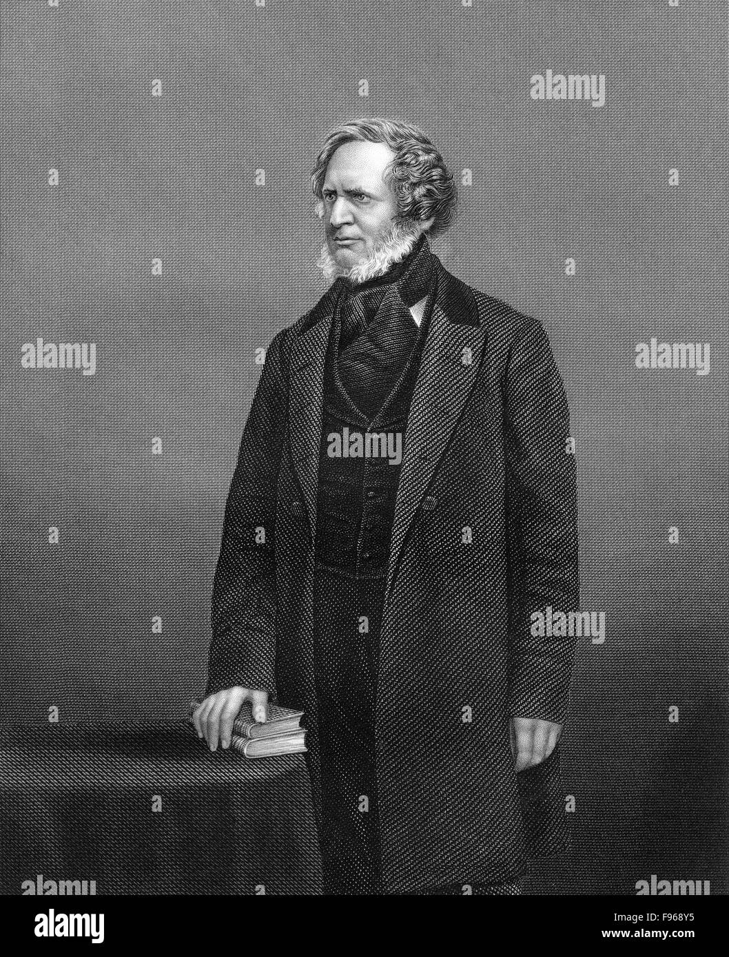 Edward George Geoffrey Smith-Stanley, 14th Earl of Derby, 1799-1869, a British statesman, Prime Minister of the - Stock Image