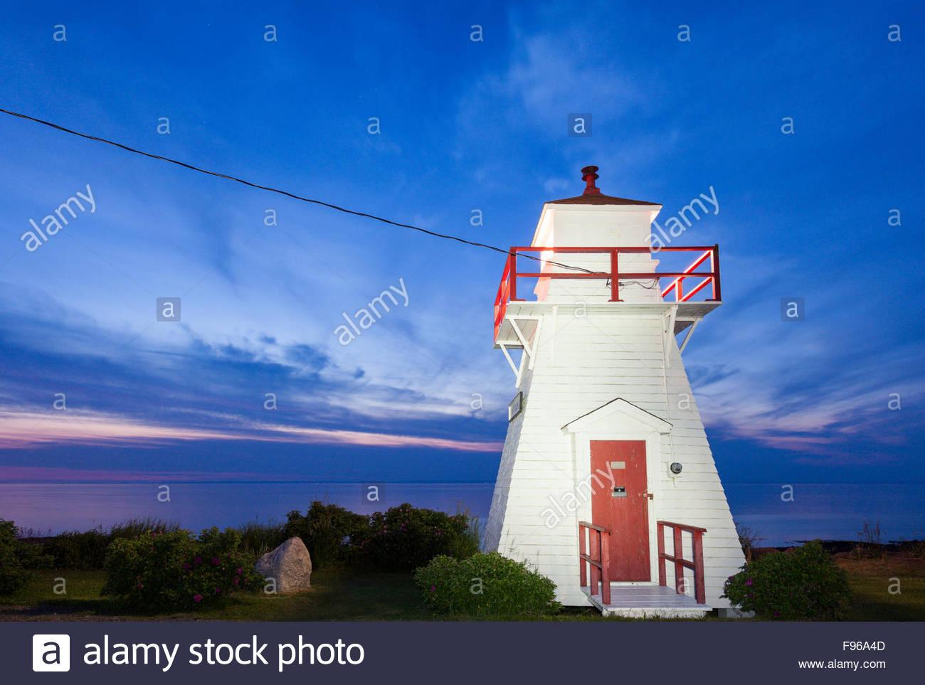 Port George Lighthouse in Nova Scottia - Stock Image