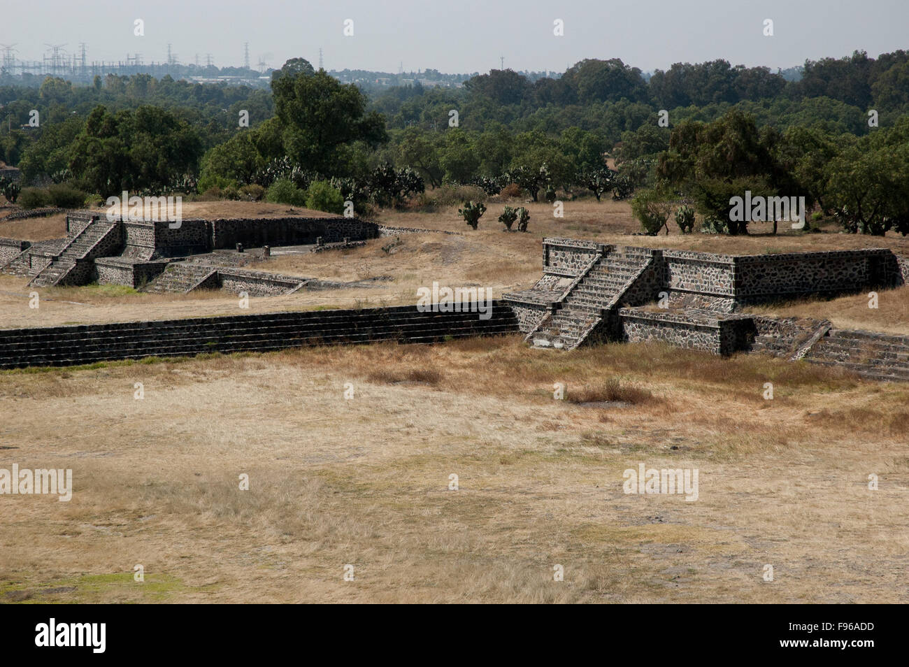 Pyramids of Teotihuacan, Mexico. Symbol of the pre-colombian America - Stock Image