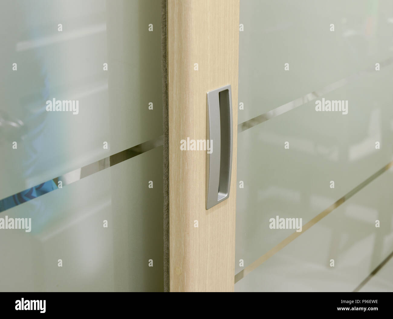 Handle sliding closet - Stock Image