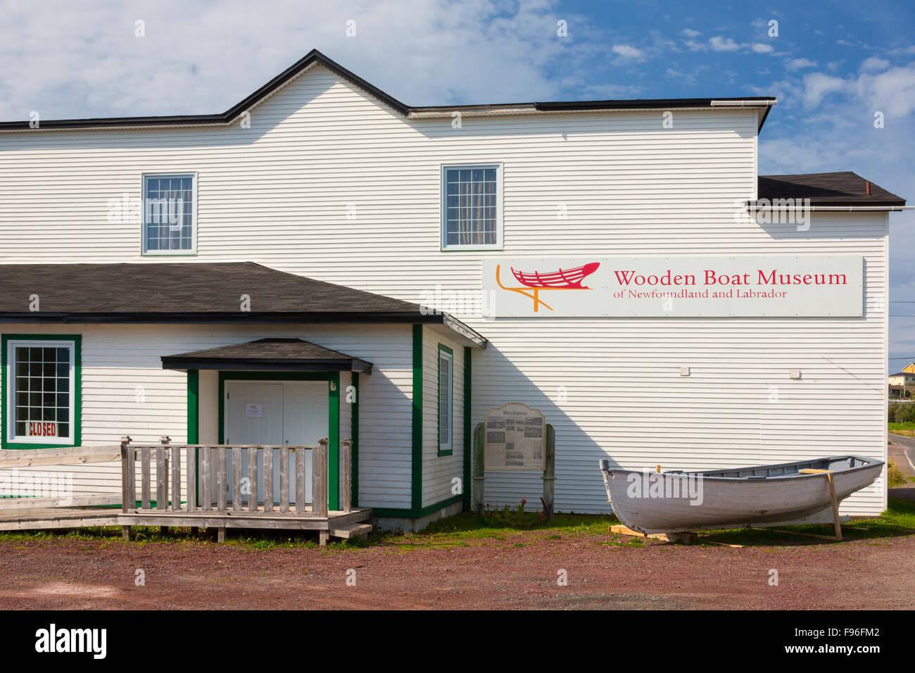 Wooden Boat Museum Winterton Newfoundland Canada Stock Photo