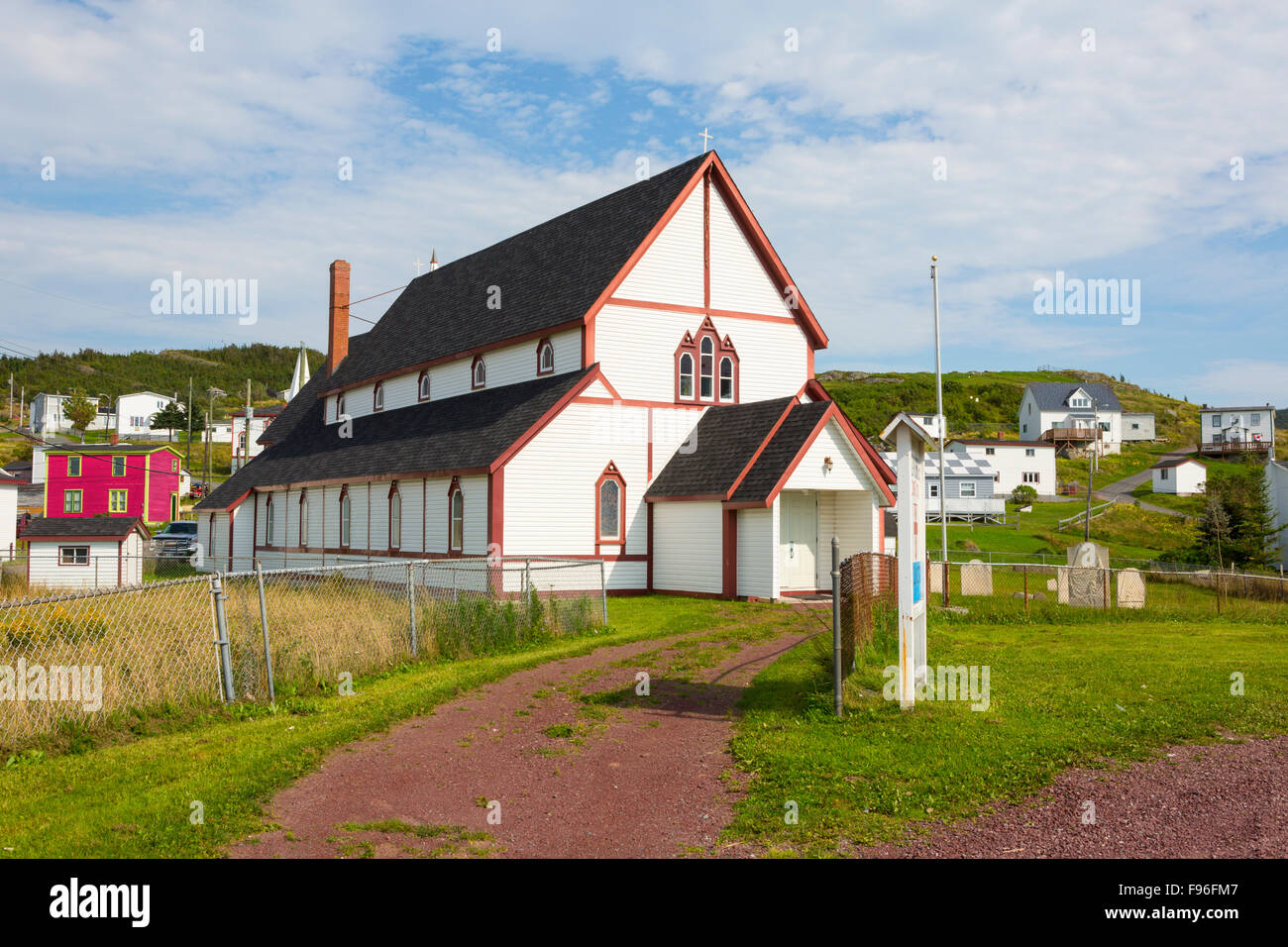 St. Luke's Anglican Church, Winterton, Newfoundland, Canada - Stock Image