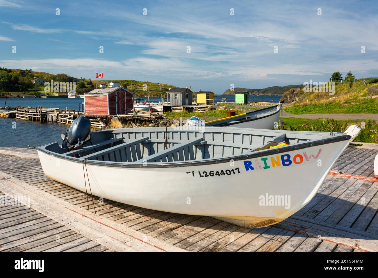 Wooden boats, Hant's Harbour, Newfoundland, Canada - Stock Image