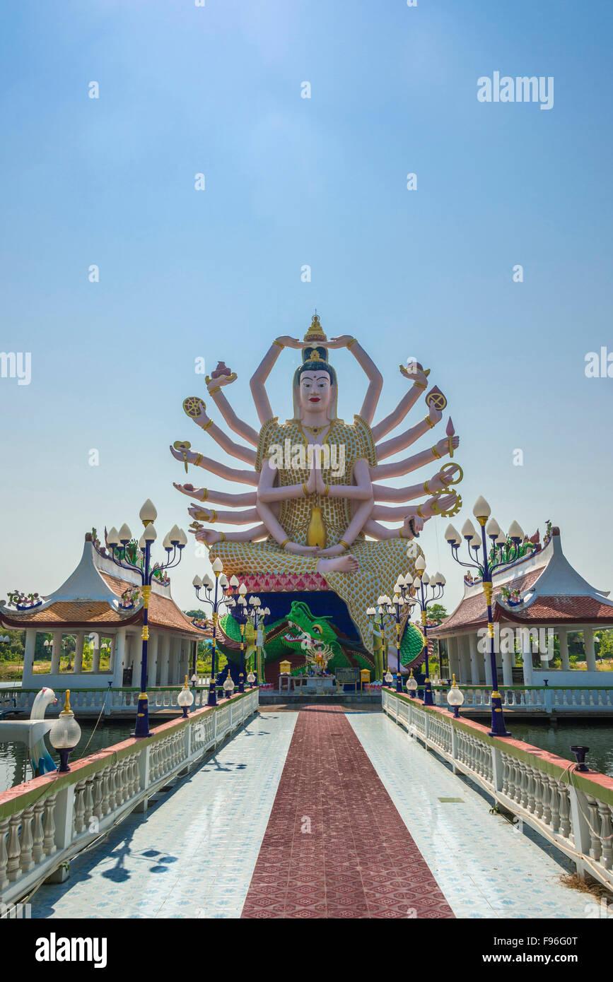 Goddess Avalokiteśvara, Wat Laem Suwannaram Temple, Ban Bo Phut, Ko Samui, Thailand Stock Photo