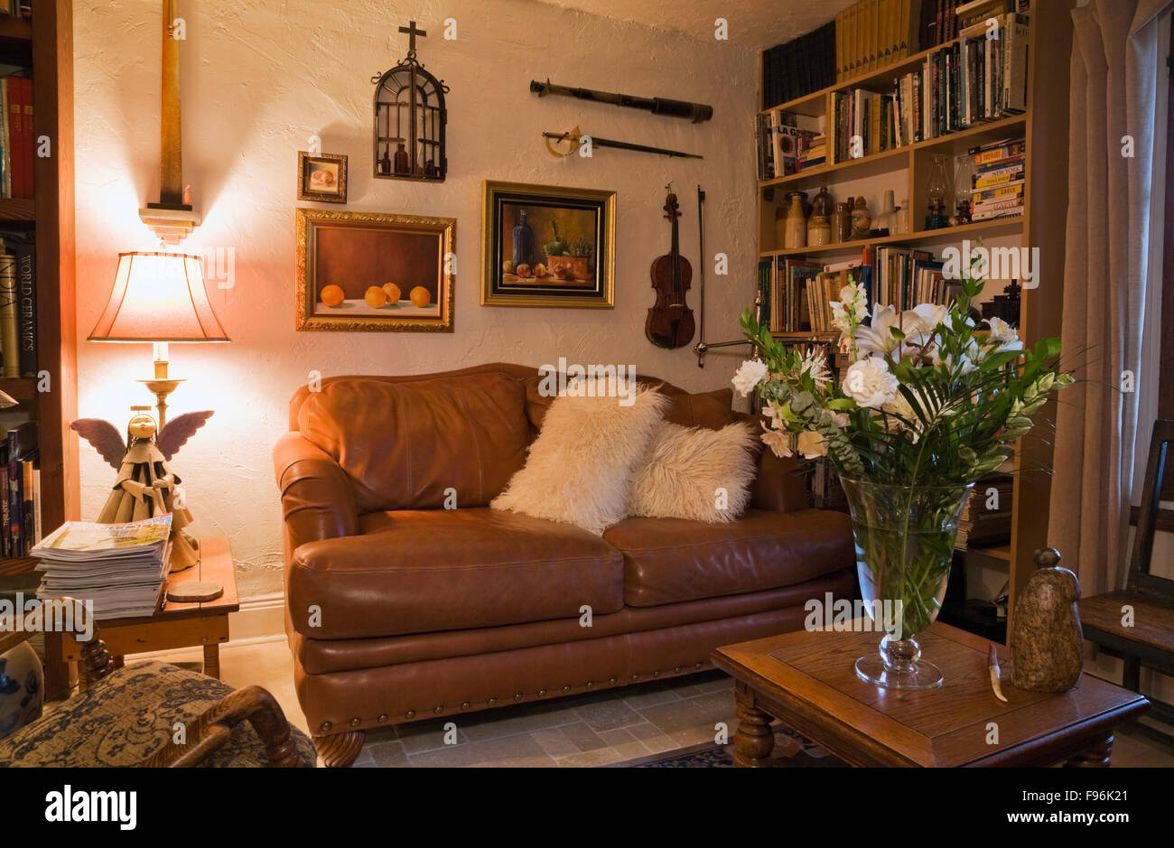 Awe Inspiring Brown Leather Sofa In The Reading Room Inside An Old 1809 Spiritservingveterans Wood Chair Design Ideas Spiritservingveteransorg