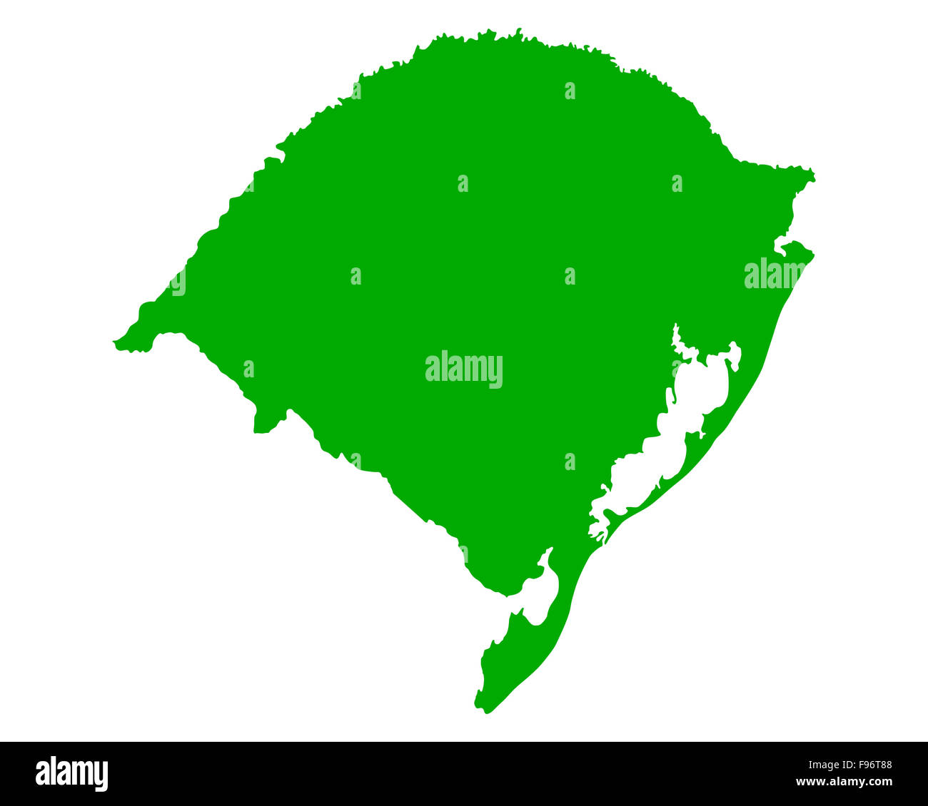Map of Rio Grande do Sul Stock Photo