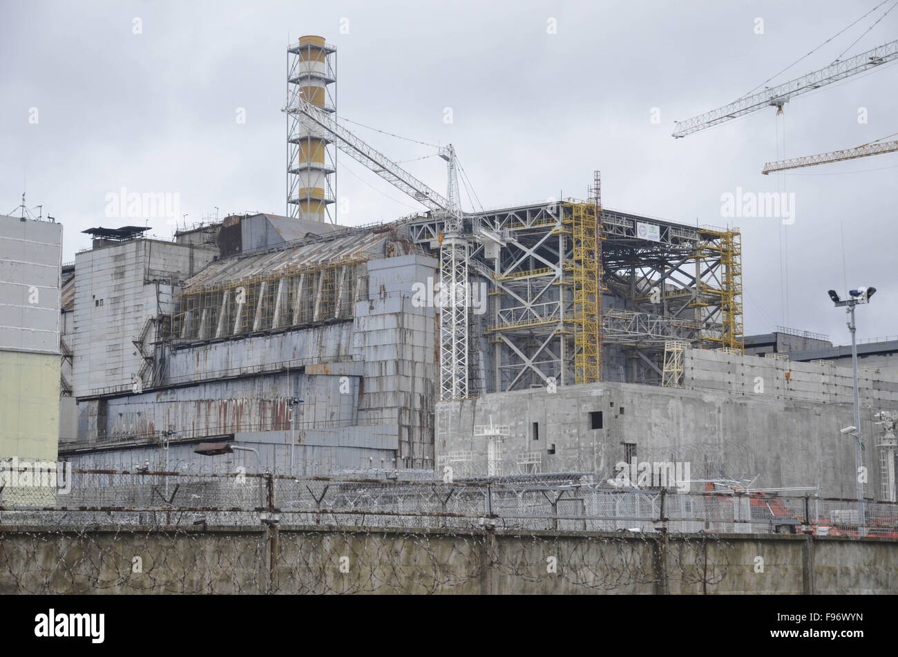 Dec. 14, 2015 - Chernobyl, Ukraine - New protective shelter at nuclear reactor at Chernobyl. (Credit Image: © - Stock Image