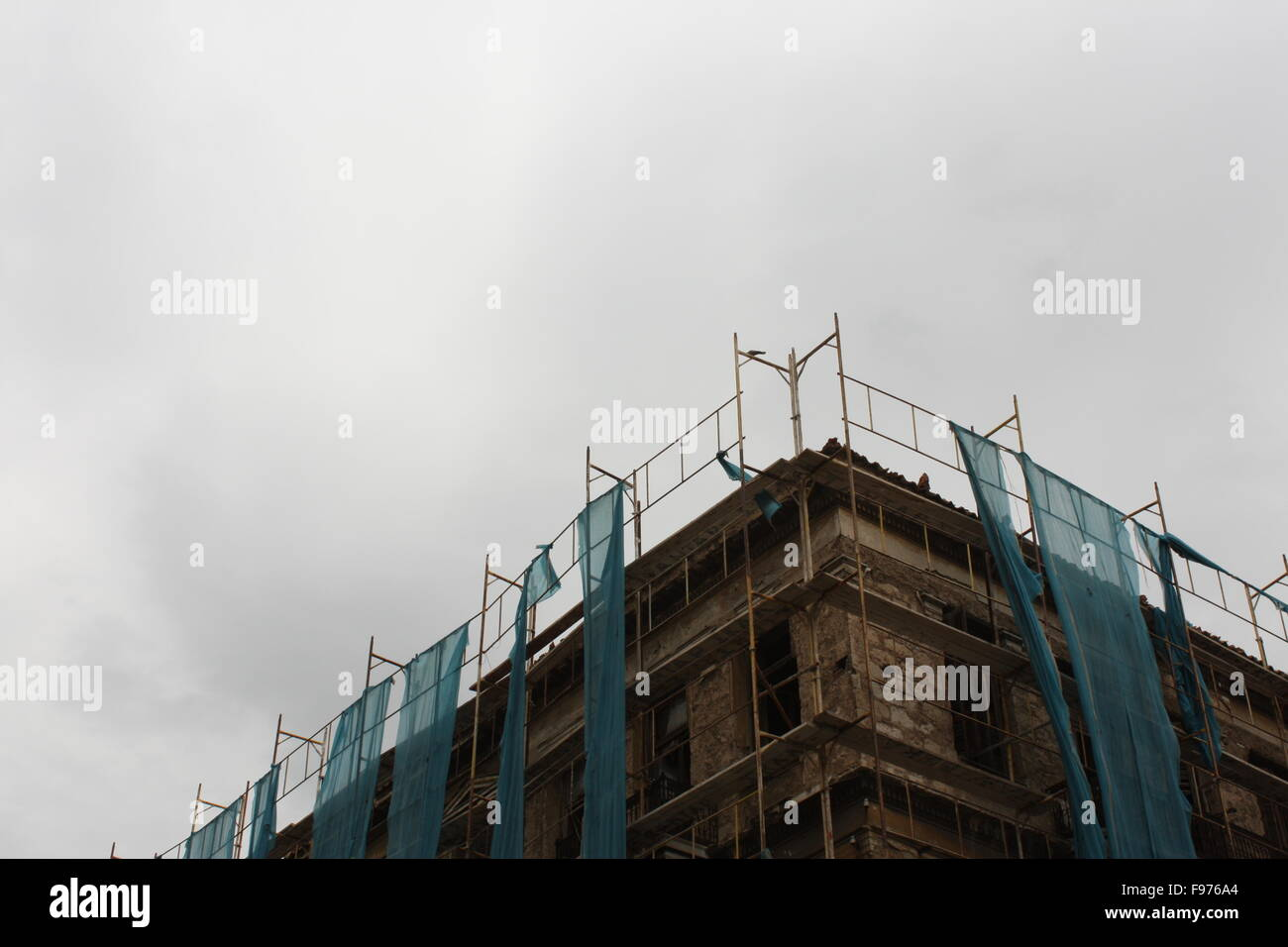 High Section Of An Incomplete Building - Stock Image